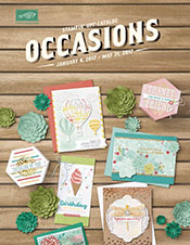 Stampin Up Occasions Catalog 2017