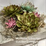 Succulent Home Decor Stampin' Up! Project (Video/Tutorial)